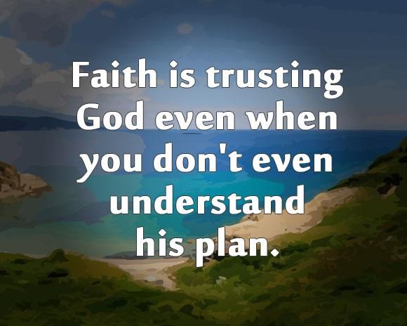 faith is trusting