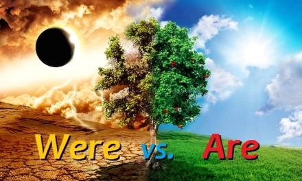 were vs. are